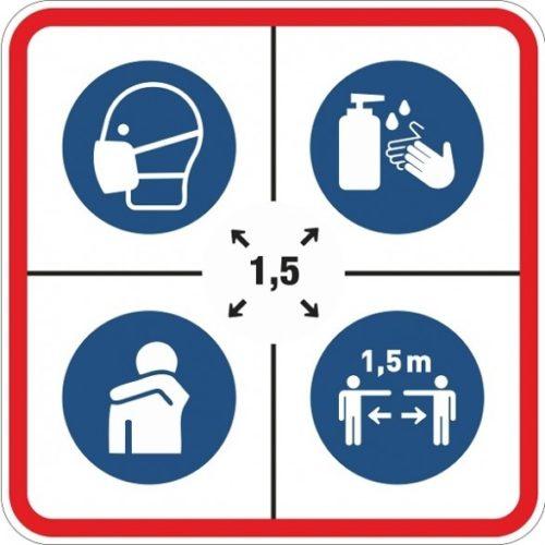 Halten Sie Abstand-Corona-Aufkleber-Covid-19-Aufkleber-Beleuchtungslösungen-Gesichtsmaske-obligatorisch-kein-Hand-Schütteln-Husten-in-Ellbogen-Fluchtweg-Indikationen.nl_