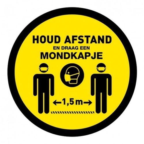 houd-afstand-rond-corona-sticker-covid-19-sticker-lighting-solutions-mondkapje-verplicht-vluchtwegaanduidingen.nl