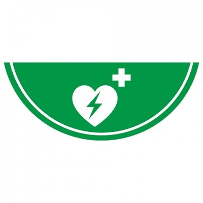 Nalichtende AED pictogram