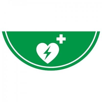 Leuchtendes AED-Symbol