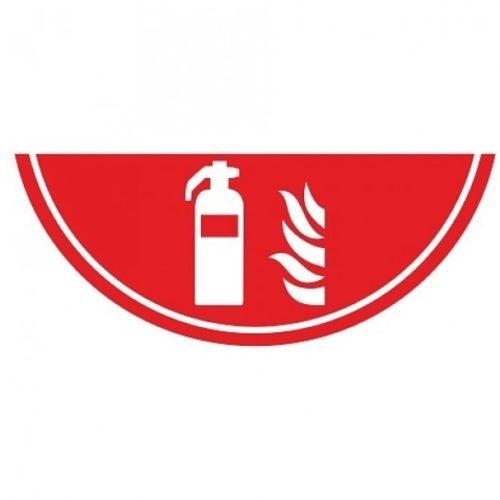 Vloermarkering brandblusser - vluchtrouteaanduiding - nood deur - glow in the dark - nalichtende materialen - vluchtwegaanduidingen