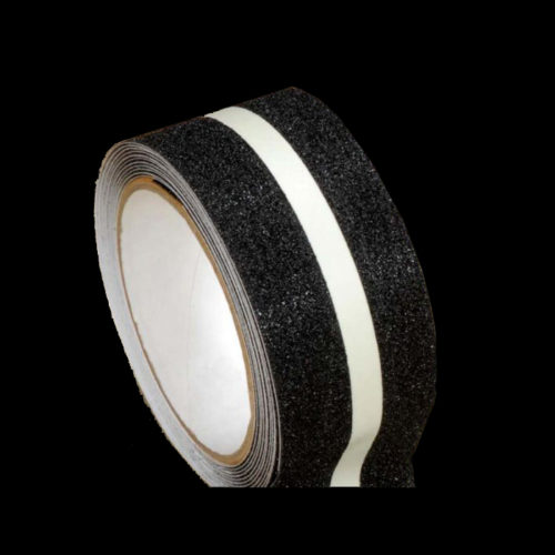 Photoluminescent-anti-slip-tape-lighting-floor-marking-contour-marking-glow-in-the-dark-escape-route-indications-afterglowing-pictograms