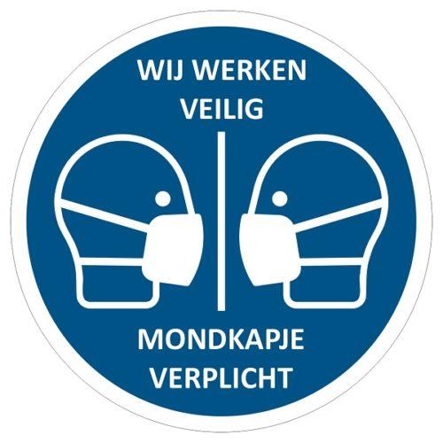 WE-WORK-SAFE-Mundmaske obligatorisch-Corona-Maßnahmen-Corona-Aufkleber