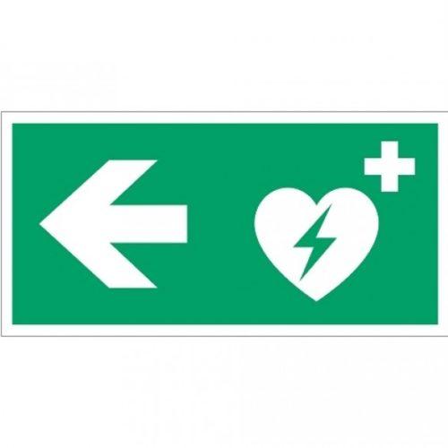 AED rechtsaf - veiligheidspictogram - ehbo pictogram - routeaanduiding - vluchtwegaanduidingen