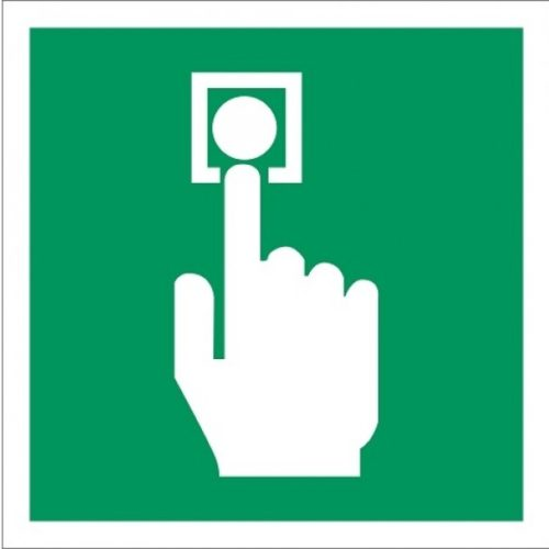 EO01 manual call point - safety pictograms - emergency pictograms - safety stickers