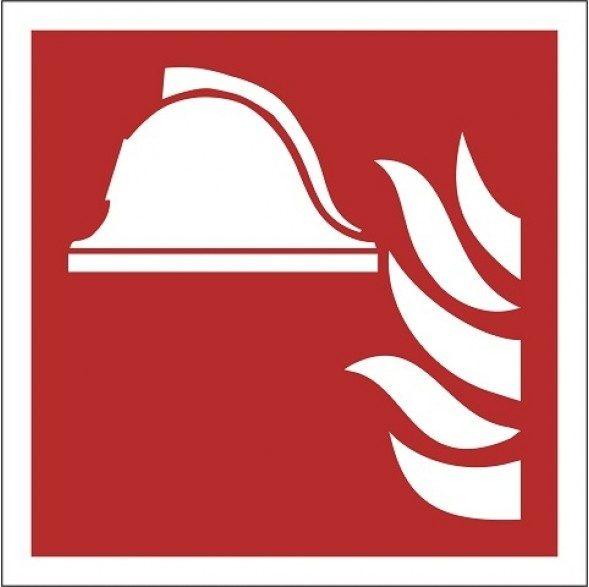 f004_Feuerbekämpfungsausrüstung-Piktogramm-im Dunkeln leuchten-Sicherheitspiktogramm-Sicherheitsetikett