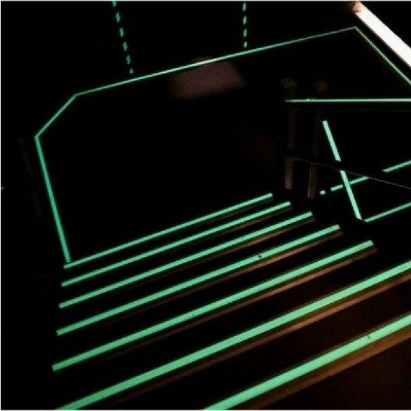 Photoluminescent-emergency-door-lighting-floor-marking-contour-marking-glow-in-the-dark-escape-route-indications-afterglowing-pictograms