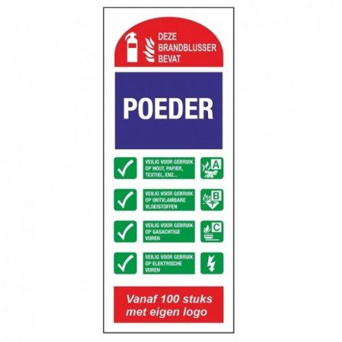FT04 Pulverlöscher-Piktogramm-Glow-in-the-Dark-Sicherheitspiktogramm-Sicherheitszeichen