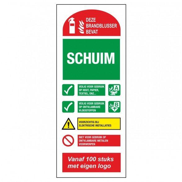 FT05 - Schaumlöscher-Piktogramm-Glow-in-the-Dark-Sicherheits-Piktogramm-Sicherheitsmarker