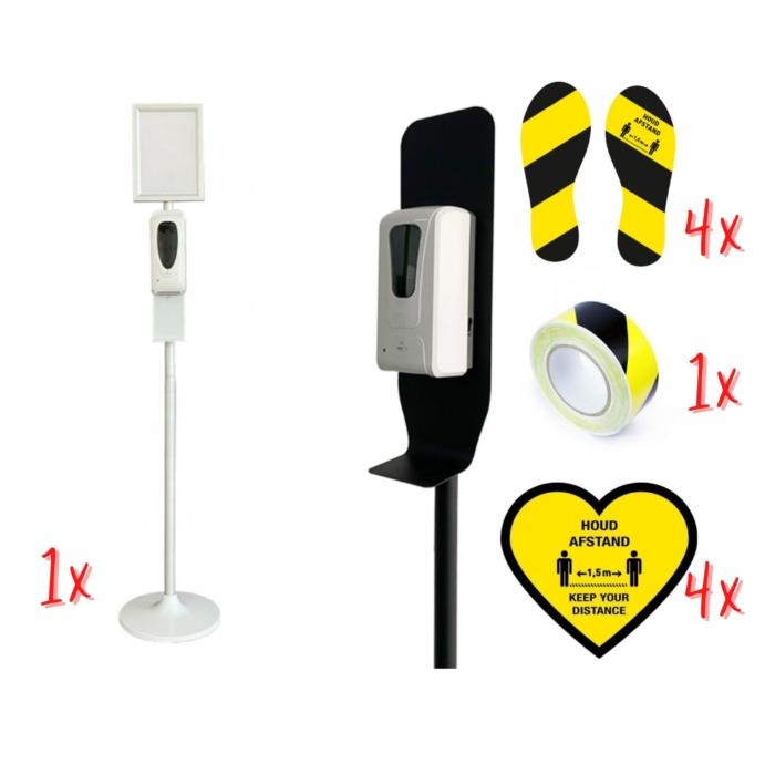 Corona package back to school childcare, primary school, playgroup, hygiene pole, corona stickers