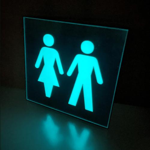 Glow in the dark toilet bord