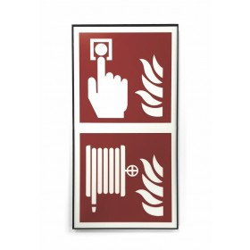 Brandmelder-Brandschlauch-Schild