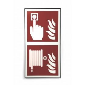 fire detector-fire hose-sign