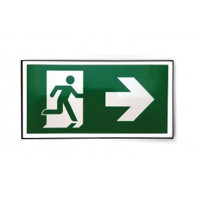 Escape route sign on the right