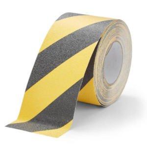 H3433D-Chemical-Resistant-Safety-Grip-Black-Yellow-100mm-Roll-Heskins-Vluchtwegaanduidingen