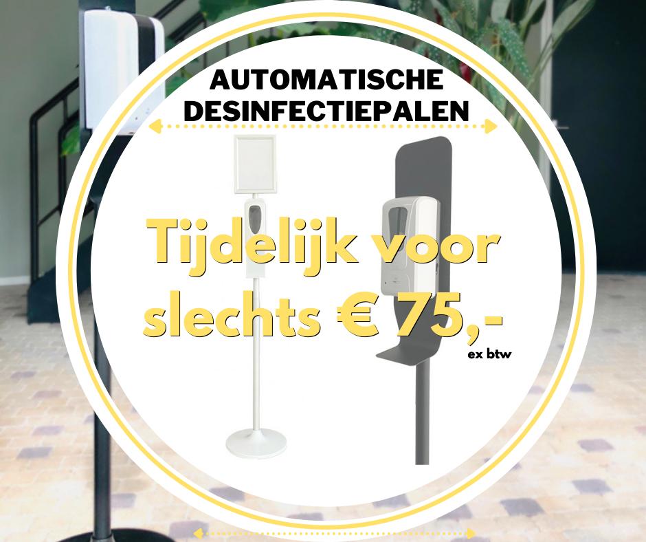Aanbieding Automatische desinfectiepalen Voor € 75,-
